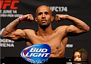 VANCOUVER, BC - JUNE 13:  UFC flyweight champion Demetrious