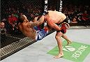 VANCOUVER, BC - JUNE 14:  (R-L) Ryan Bader takes down Rafael