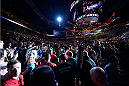 VANCOUVER, BC - JUNE 14:  A general view of Demetrious 'Mighty Mouse' Johnson walking into the arena before his championship bout against Ali Bagautinov during the UFC 174 event at Rogers Arena on June 14, 2014 in Vancouver, British Columbia, Canada. (Photo by Jeff Bottari/Zuffa LLC/Zuffa LLC via Getty Images)