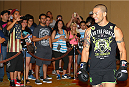 SAN ANTONIO, TX - JUNE 26:  Cub Swanson holds an open training session at the Grand Hyatt San Antonio on June 26, 2014 in San Antonio, Texas. (Photo by Ed Mulholland/Zuffa LLC/Zuffa LLC via Getty Images)