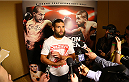 SAN ANTONIO, TX - JUNE 26:  Jeremy Stephens speaks to the media after his open training session at the Grand Hyatt San Antonio on June 26, 2014 in San Antonio, Texas. (Photo by Ed Mulholland/Zuffa LLC/Zuffa LLC via Getty Images)