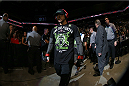 SAN ANTONIO, TX - JUNE 28:  Cub Swanson walks to the Octagon to face Jeremy Stephens in their featherweight bout at the AT&T Center on June 28, 2014 in San Antonio, Texas. (Photo by Ed Mulholland/Zuffa LLC/Zuffa LLC via Getty Images)