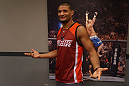 Dhiego Lima before his semifinal bout against Roger Zapata.