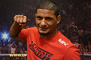 A close-up of Dhiego Lima following his win over Roger Zapata.