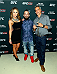 LAS VEGAS, NV - JULY 1:  (L-R) UFC Octagon Girl and artist Brittney Palmer, artist Brian Kirhagis and artist Justin Bua arrive at the Art of Fighting Exhibition to kick off the UFC International Fight Week at The Gallery on 1217 on July 1, 2014 in Las Vegas, Nevada. (Photo by Jeff Bottari/Zuffa LLC/Zuffa LLC via Getty Images)
