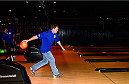 LAS VEGAS, NV - JULY 2: Matt Hughes bowls with fans during the UFC International Fight Week charity bowling event at Brooklyn Bowl Las Vegas at The LINQ on July 2, 2014 in Las Vegas, Nevada. (Photo by Brandon Magnus/Zuffa LLC/Zuffa LLC via Getty Images)