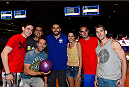 LAS VEGAS, NV - JULY 2: Carlos Condit poses with fans during the UFC International Fight Week charity bowling event at Brooklyn Bowl Las Vegas at The LINQ on July 2, 2014 in Las Vegas, Nevada. (Photo by Brandon Magnus/Zuffa LLC/Zuffa LLC via Getty Images)