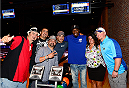 LAS VEGAS, NV - JULY 2: Phil Davis poses with fans during the UFC International Fight Week charity bowling event at Brooklyn Bowl Las Vegas at The LINQ on July 2, 2014 in Las Vegas, Nevada. (Photo by Brandon Magnus/Zuffa LLC/Zuffa LLC via Getty Images)