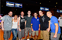 LAS VEGAS, NV - JULY 2: Dominick Cruz poses with fans during the UFC International Fight Week charity bowling event at Brooklyn Bowl Las Vegas at The LINQ on July 2, 2014 in Las Vegas, Nevada. (Photo by Brandon Magnus/Zuffa LLC/Zuffa LLC via Getty Images)