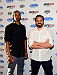 LAS VEGAS, NV - JULY 2: (L-R) Actors Damon Wayans Jr. and Jake Johnson arrive at the UFC's Advance Screening of the Twentieth Century Fox film 'Let's Be Cops' during UFC International Fight Week at Brooklyn Bowl Las Vegas at The LINQ on July 2, 2014 in Las Vegas, Nevada. (Photo by Brandon Magnus/Zuffa LLC/Zuffa LLC via Getty Images)