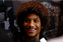 LAS VEGAS, NV - JULY 03:  Alex Caceres interacts with media during the UFC Ultimate Media Day at the Mandalay Bay Resort and Casino on July 3, 2014 in Las Vegas, Nevada.  (Photo by Josh Hedges/Zuffa LLC/Zuffa LLC via Getty Images)