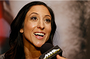 LAS VEGAS, NV - JULY 03:  The Ultimate Fighter season 20 cast member Jessica Penne interacts with media during the UFC Ultimate Media Day at the Mandalay Bay Resort and Casino on July 3, 2014 in Las Vegas, Nevada.  (Photo by Josh Hedges/Zuffa LLC/Zuffa LLC via Getty Images)