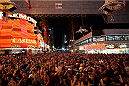 LAS VEGAS, NV - JULY 4:  A general view of fans waiting to see Papa Roach perform during UFC International Fight Week Free Concert Featuring Lit, P.O.D., and Papa Roach at the Fremont Street Experience Las Vegas on July 2, 2014 in Las Vegas, Nevada. (Photo by Brandon Magnus/Zuffa LLC/Zuffa LLC via Getty Images)