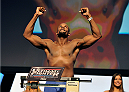 LAS VEGAS, NV - JULY 05:  Mixed martial artist Eddie Gordon poses on the scale during the TUF 19 Finale weigh-in at the Mandalay Bay Convention Center on July 5, 2014 in Las Vegas, Nevada.  (Photo by David Becker/Zuffa LLC/Zuffa LLC via Getty Images)