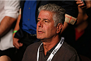 LAS VEGAS, NV - JULY 05:   Chef Anthony Bourdain attends UFC 175 inside the Mandalay Bay Events Center on July 5, 2014 in Las Vegas, Nevada.  (Photo by Josh Hedges/Zuffa LLC/Zuffa LLC via Getty Images)