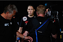 LAS VEGAS, NV - JULY 06:  Alexis Dufresne enters the Octagon in her women's bantamweight fight during the Ultimate Fighter Finale inside the Mandalay Bay Events Center on July 6, 2014 in Las Vegas, Nevada.  (Photo by Josh Hedges/Zuffa LLC/Zuffa LLC via Getty Images)