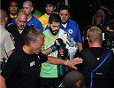 LAS VEGAS, NV - JULY 06:  Juan Manuel Puig Carreon enters the Octagon for his lightweight fight during the Ultimate Fighter Finale inside the Mandalay Bay Events Center on July 6, 2014 in Las Vegas, Nevada.  (Photo by Josh Hedges/Zuffa LLC/Zuffa LLC via Getty Images)