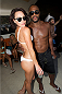 LAS VEGAS, NV - JULY 3:  UFC Octagon Girl Rachelle Leah (L) and Rashad Evans pose at the UFC pool party during UFC International Fight Week at the Liquid Pool Lounge at the Aria Resort & Casino at CityCenter on July 3, 2014 in Las Vegas, Nevada. (Photo by Al Powers/Zuffa LLC/Zuffa LLC via Getty Images) *** Local Caption *** Rachelle Leah;Rashad Evans