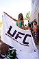 LAS VEGAS, NV - JULY 3:  UFC Octagon Girl Arianny Celeste poses at the UFC pool party during UFC International Fight Week at the Liquid Pool Lounge at the Aria Resort & Casino at CityCenter on July 3, 2014 in Las Vegas, Nevada. (Photo by Al Powers/Zuffa LLC/Zuffa LLC via Getty Images) *** Local Caption *** Arianny Celeste