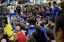 LAS VEGAS, NV - JULY 5:  Mixed martial artist Matt Hughes provides technique instruction during the UFC Fan Expo at the Mandalay Bay Convention Center on July 5, 2014 in Las Vegas, Nevada. (Photo by Todd Lussier/Zuffa LLC/Zuffa LLC via Getty Images) *** Local Caption ***Matt Hughes