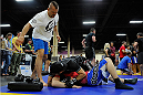 LAS VEGAS, NV - JULY 5:  Mixed martial artist Chuck Liddell provides technique instruction during the UFC Fan Expo at the Mandalay Bay Convention Center on July 5, 2014 in Las Vegas, Nevada. (Photo by Todd Lussier/Zuffa LLC/Zuffa LLC via Getty Images) *** Local Caption ***Chuck Liddell