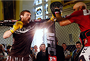 DUBLIN, IRELAND - JULY 16:  Brad Pickett holds an open training session during the UFC media day at Royal Hospital Kilmainham on July 16, 2014 in Dublin, Ireland. (Photo by Josh Hedges/Zuffa LLC/Zuffa LLC via Getty Images)