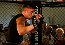 DUBLIN, IRELAND - JULY 16:  Norman Parke holds an open training session during the UFC media day at Royal Hospital Kilmainham on July 16, 2014 in Dublin, Ireland. (Photo by Josh Hedges/Zuffa LLC/Zuffa LLC via Getty Images)