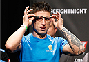 DUBLIN, IRELAND - JULY 18:  Norman Parke prepares to step on the scale during the UFC weigh-in event at The O2 on July 18, 2014 in Dublin, Ireland.  (Photo by Josh Hedges/Zuffa LLC/Zuffa LLC via Getty Images)
