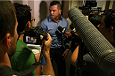 Vitor Belfort talks to the media after his hearing on July 23, 2014. Belfort was granted a license to fight in Las Vegas and will compete against current UFC middleweight champion Chris Weidman at Mandalay Bay on December 6.
