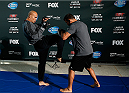 SAN JOSE, CA - JULY 24: Robbie Lawler holds an open training session for media and fans at the SAP Center on July 24, 2014 in San Jose, California. (Photo by Josh Hedges/Zuffa LLC/Zuffa LLC via Getty Images)