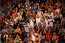 BANGOR, ME - AUGUST 16:  Fans applaud Tim Boetsch after he defeated Brad Tavares in their middleweight bout during the UFC fight night event at the Cross Insurance Center on August 16, 2014 in Bangor, Maine. (Photo by Jeff Bottari/Zuffa LLC/Zuffa LLC via Getty Images)