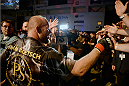 BANGOR, ME - AUGUST 16:  Tim Boetsch celebrates with the fans after defeating Brad Tavares in their middleweight bout during the UFC fight night event at the Cross Insurance Center on August 16, 2014 in Bangor, Maine. (Photo by Jeff Bottari/Zuffa LLC/Zuffa LLC via Getty Images)