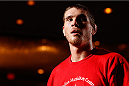 TULSA, OK - AUGUST 21: Jordan Mein of Canada holds an open training session for media and fans at the Hyatt Regency Hotel on August 21, 2014 in Tulsa, Oklahoma. (Photo by Josh Hedges/Zuffa LLC/Zuffa LLC via Getty Images)