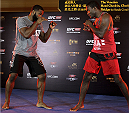 MACAU - AUGUST 21:  Tyron Woodley during the UFC open workouts at the Venetian Macau on August 21, 2014 in Macau. (Photo by Mitch Viquez/Zuffa LLC/Zuffa LLC via Getty Images)