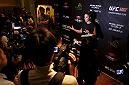 MACAU - AUGUST 22:  Ronda Rousey during a media scrum before the UFC weigh-in event at the Venetian Macau on August 22, 2014 in Macau. (Photo by Mitch Viquez/Zuffa LLC/Zuffa LLC via Getty Images)
