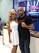 Jhenny Andrade and Warlley Alves at the School Fair in Sao Paulo.