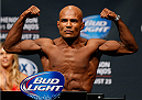 TULSA, OK - AUGUST 22: Wilson Reis of Brazil weighs in during the UFC Fight Night weigh-in at the BOK Center on August 22, 2014 in Tulsa, Oklahoma. (Photo by Josh Hedges/Zuffa LLC/Zuffa LLC via Getty Images)