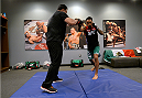 LAS VEGAS, NV - MAY 19:  Team Velasquez fighter Jose Quionez warms up before facing team Werdum fighter Bentley Syler in their preliminary fight during filming of The Ultimate Fighter Latin America on May 19, 2014 in Las Vegas, Nevada. (Photo by Jeff Bottari/Zuffa LLC/Zuffa LLC via Getty Images) *** Local Caption ***Jose Quionez