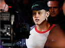 SACRAMENTO, CA - AUGUST 30:  Shayna Baszler enters the arena before her women's bantamweight bout against Bethe Correia during the UFC 177 event at Sleep Train Arena on August 30, 2014 in Sacramento, California.  (Photo by Josh Hedges/Zuffa LLC/Zuffa LLC via Getty Images)