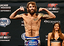 MASHANTUCKET, CT - SEPTEMBER 04:  Michael Chiesa weighs in during the UFC Fight Night weigh-in at Foxwoods Resort Casino on September 4, 2014 in Mashantucket, Connecticut.  (Photo by Josh Hedges/Zuffa LLC/Zuffa LLC via Getty Images)