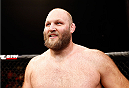 MASHANTUCKET, CT - SEPTEMBER 05:  Ben Rothwell celebrates after defeating Alistair Overeem in their heavyweight bout during the UFC Fight Night event at Foxwoods Resort Casino on September 5, 2014 in Mashantucket, Connecticut.  (Photo by Josh Hedges/Zuffa LLC/Zuffa LLC via Getty Images)