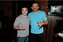 MASHANTUCKET, CT - SEPTEMBER 5: Retired mixed martial artist Chuck Liddell poses with a fan inside the UFC's The Ultimate Fighter 20 event inside the Shrine at Foxwoods Resort Casino on September 5, 2014 in Mashantucket, Connecticut. (Photo by Jeff Bottari/Zuffa LLC/Zuffa LLC via Getty Images)