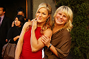Felice Herrig and Justine Kish pose outside of the Ultimate Fighter season 20 red carpet event in Los Angeles. (Photos by Jonathan Bradley/UFC.com)