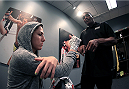 LAS VEGAS, NV - JULY 8:  Team Pettis fighter Randa Markos gets her hands wrapped before facing team Melendez fighter Tecia Torres during filming of season twenty of The Ultimate Fighter on July 8, 2014 in Las Vegas, Nevada. (Photo by Brandon Magnus/Zuffa LLC/Zuffa LLC via Getty Images) *** Local Caption *** Randa Markos