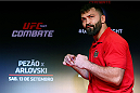 BRASILIA, BRAZIL - SEPTEMBER 11:  Andrei Arlovski of Belarus holds an open training session for media at the Brasilia Shopping mall on September 11, 2014 in Brasilia, Brazil. (Photo by Josh Hedges/Zuffa LLC/Zuffa LLC via Getty Images)