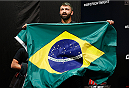 BRASILIA, BRAZIL - SEPTEMBER 12:  Andrei Arlovski of Belarus prepares to step on the scale during the UFC Fight Night weigh-in at the Nilson Nelson Gymnasium on September 12, 2014 in Brasilia, Brazil. (Photo by Josh Hedges/Zuffa LLC/Zuffa LLC via Getty Images)