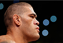 BRASILIA, BRAZIL - SEPTEMBER 13: Antonio ''Bigfoot'' Silva of Brazil stands in the Octagon before his heavyweight bout against Andrei Arlovski of Belarus during the UFC Fight Night event inside Nilson Nelson Gymnasium on September 13, 2014 in Brasilia, Brazil. (Photo by Josh Hedges/Zuffa LLC/Zuffa LLC via Getty Images)