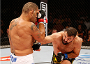 "BRASILIA, DF - SEPTEMBER 13: (R-L) Andrei Arlovski of Belarus lands an uppercut against Antonio ""Bigfoot"" Silva of Brazil in their heavyweight bout during the UFC Fight Night event inside Nilson Nelson Gymnasium on September 13, 2014 in Brasilia, Brazil. (Photo by Josh Hedges/Zuffa LLC/Zuffa LLC via Getty Images)"
