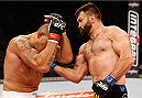 BRASILIA, BRAZIL - SEPTEMBER 13:  (R-L) Andrei Arlovski of Belarus lands an uppercut against Antonio