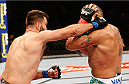 BRASILIA, DF - SEPTEMBER 13: (L-R) Andrei Arlovski of Belarus lands an uppercut against Antonio